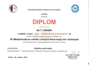 Kosice certificate